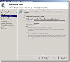 wsus config screen 2