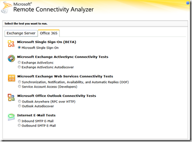 Remote Connectivity Analyzer - o365